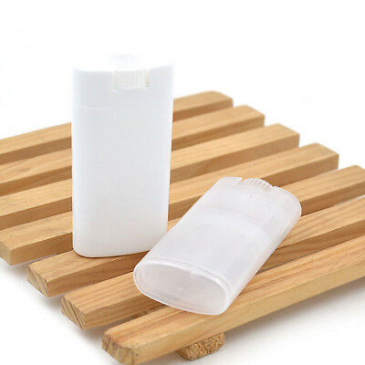 White Contain Empty DIY Lip Balm Tubes Deodorant Containers Clear Practical AU