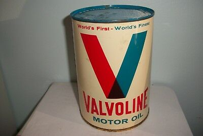 Vintage Valvoline Motor Oil (SAE 70) Steel Can Full Qt NOS Very Rare Collectable