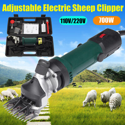 700W 110/220V Electric Sheep/Goat Clipper Groomer Shears Machine+Shearing Teeth