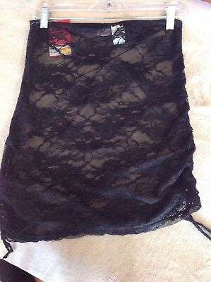 Capezio Pull On Lace Ballet Skirt Size Adult S/M