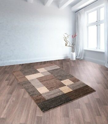 Bali 3912 A Brown Shades Modern Blocks Design Rug In Various Sizes