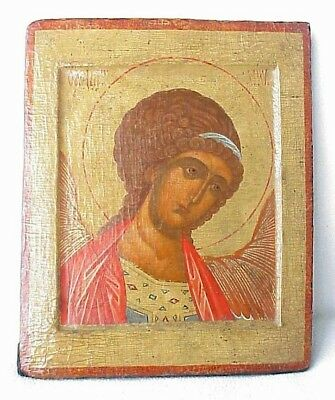 17c RUSSIAN CHRISTIAN IMPERIAL ARCHANGEL MICHAEL HOLY ORTHODOX ICONS ANGEL CROSS