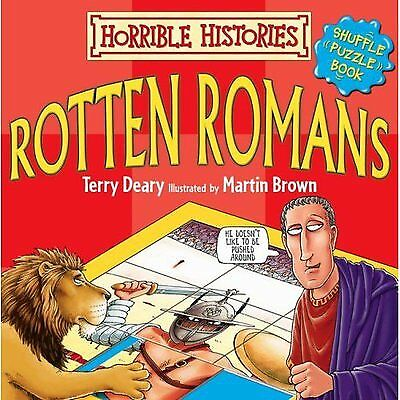Horrible histories: Rotten Romans shuffle-puzzle book by Terry Deary (Board
