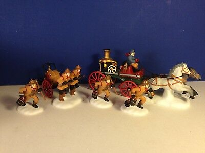 Dept 56 Dickens Village THE FIRE BRIGADE OF LONDON TOWN w/ box Combine Shipping!