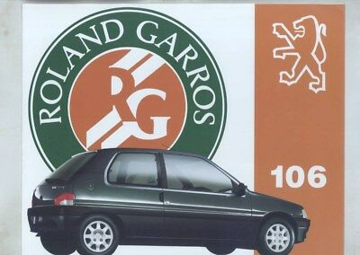 1993 Peugeot 106 Rolland Garros Tennis Limited Edition Brochure German wz3453