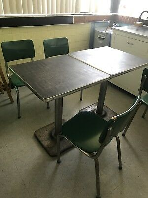 Vintage 1950s Mid-Century Retro Formica Chrome Dinette Tables (3) & Chairs (7)