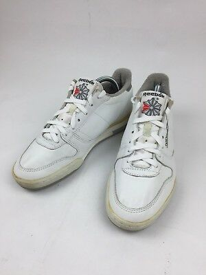 8c9b95e16c2c REEBOK CLASSIC Vintage Mens White Leather Casual Shoes Sneakers Size 9.5