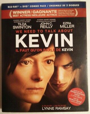 We Need to Talk About Kevin (Blu-ray/DVD, 2012, Canadian) New w/slipcover