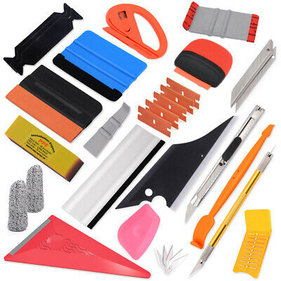 Car Vinyl Squeegee Felt Knife Blades Auto Film Window Tint Wrapping Tools Kit
