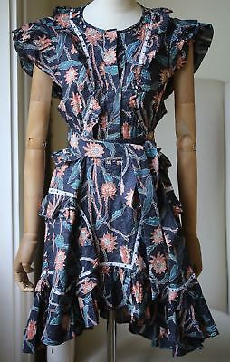 18a5ccd109d NWT ISABEL MARANT  955 Lavern One Shoulder Ruffled Printed Cotton ...
