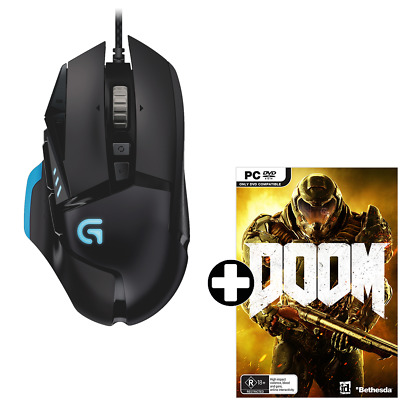 Logitech G502 Proteus Spectrum RGB Tunable Gaming Mouse + Doom - PC - BRAND NEW