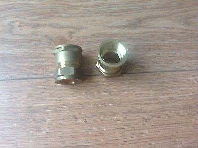 "Quality of 2 Brass Compression 22mm x 3/4"" BSP female Straight Coupler Adaptor"