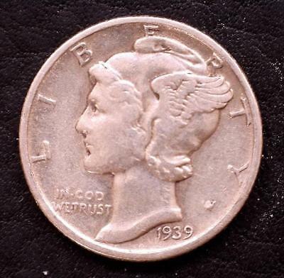 1939-P MERCURY DIME - CIRC. GOOD to VERY GOOD, SILVER***Special*** (39pa20181)