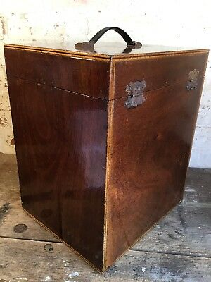 Vintage Wooden Box Carrying Case  Trunk Suitcase