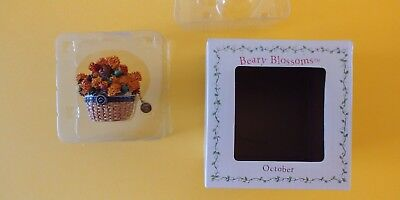 Boyds Collection - Beary Blossoms - Hinged Box - October / Calendula