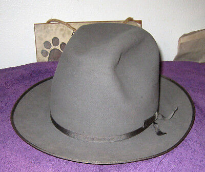 VINTAGE ROYAL STETSON Stratoliner Fedora Lt Silver Blue Gray USED Estate  Sale -  149.99  18aada682e4
