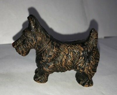 Vintage Scottie Dog Wood Composite 1930's