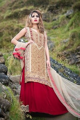 Pakistani/Indian party wear anarkali/shalwar kameez dress -Size M