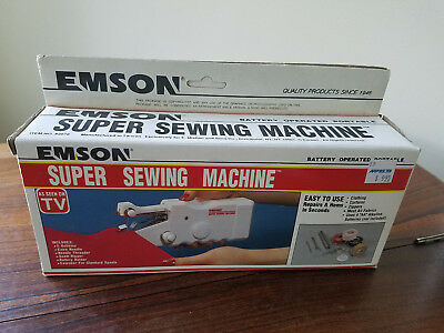 Emson Super Battery Operated Portable Sewing Machine #2079