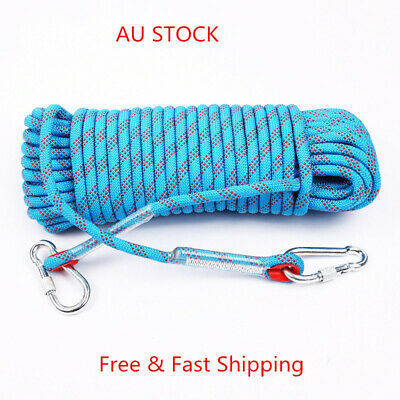 10M 10mm Static Rescue Rope Safety Camping Cord Hiking Climbing Abseiling sport