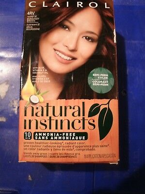 Clairol Natural Instincts Semi Permanent Hair Color 4rv Burgundy Brown