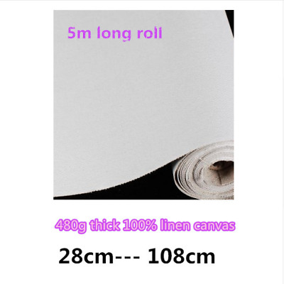 Blank Canvas Roll Oil Painting Linen 5m 480g Primed High Quality Artist Supplies