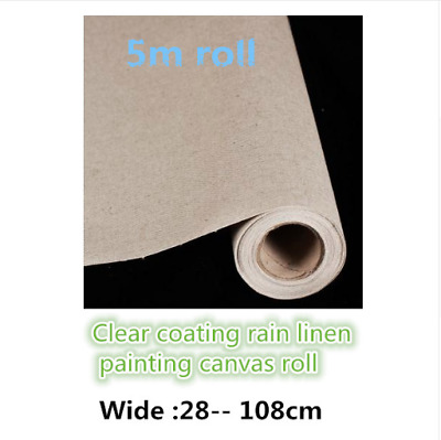 Primed Canvas Roll Oil Painting Blank Linen 5m 300g High Quality Artist Supplies