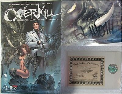 Overkill #1 Witchblade SIGNED David Wohl Limited DF Dynamic Forces certified ...