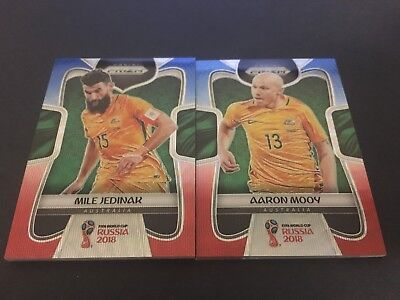 2018 FIFA World Cup Panini Prizm 'Red & Blue Wave' AUSTRALIA - SELECT YOUR CARD