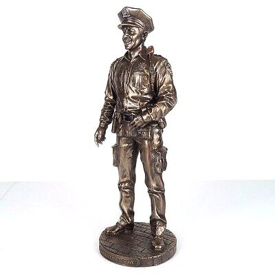 """NYPD Policeman To Protect & To Serve Bronze Figurine Miniature Statue 11.5""""H New"""