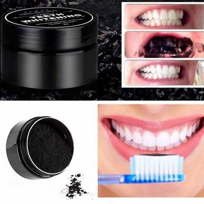 NEW Natural Organic Activated Charcoal Whitening Tooth Teeth Powder Toothpaste