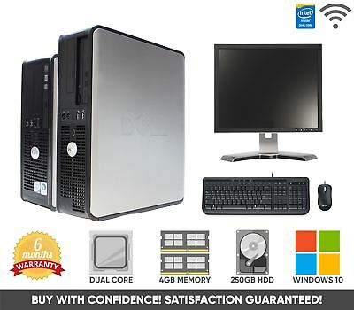 "Cheap Dell Full Computer System with 17"" Monitor 
