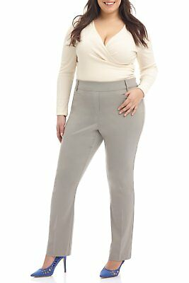 e69dcc5d75c Rekucci Curvy Woman Ease in to Comfort Straight Leg Plus Size Pant w Tummy