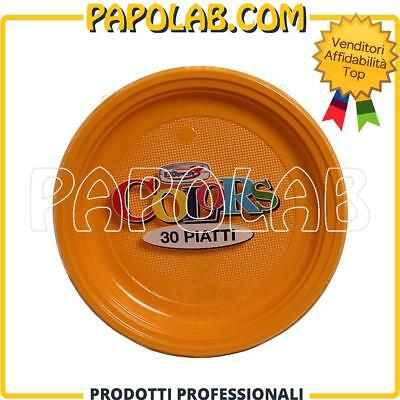 30 Piatti Di Plastica Colorati Dopla Colors Ø22 Mango Feste Party Apericena