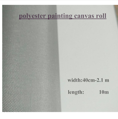 Blank Polyester Canvas Roll Oil Painting Primed High Quality Artist Supplies