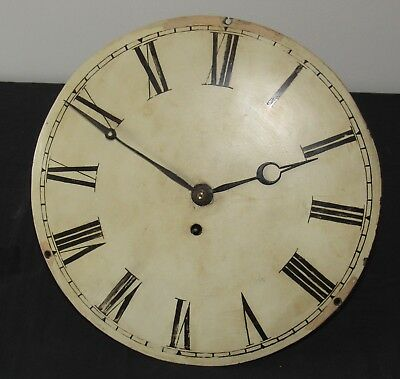 Nice Antique Convex Fusee 12in Dial & Clock Movement
