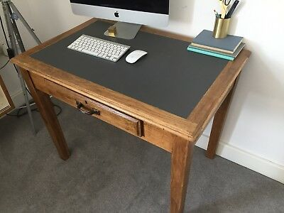 Small vintage leather top writing desk. table. mid century. Beautiful condition