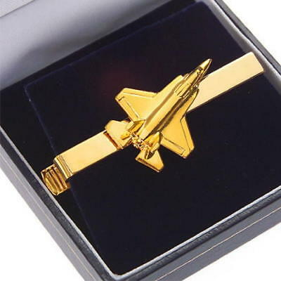 JSF Joint Strike Fighter Lightning II 22 Carat Gold Plate Tiebar