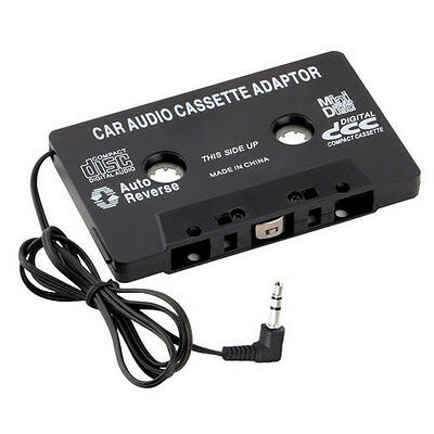 Audio Cassette Tape Adapter Aux Cable Cord,35mm-Jack fr to CD MP3 iPod Player w;