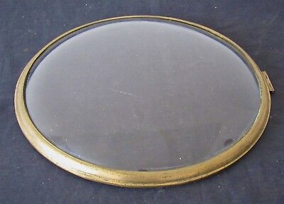 Nice 10.25in Brass Clock Bezel With Convex Glass