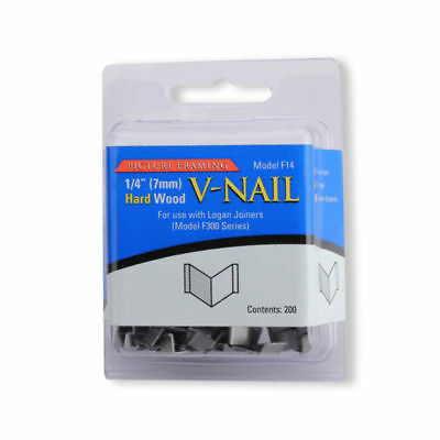 Logan F14 : 7mm V Nails Hard Wood : Pack of 200 - for F300 Joiners Framing