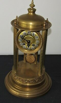 Large Decorative Striking Bandstand Brass Clock