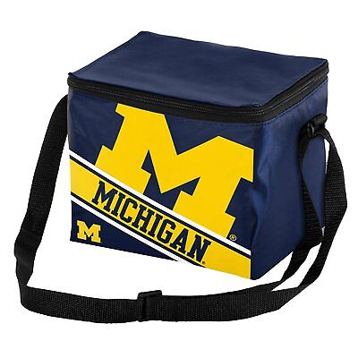 Forever Collectibles NCAA Michigan Wolverines Team Lunch Bag 6 Pack Cooler