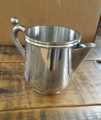 NEW DELCO STAINLESS STEEL CREAMER PITCHER 5oz RESTAURANT