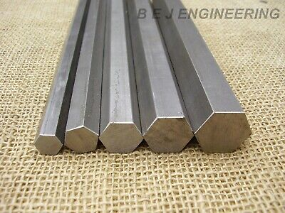 Bright Mild Steel Hexagon Bar - Various sizes -  EN1A Leaded - Hexagonal