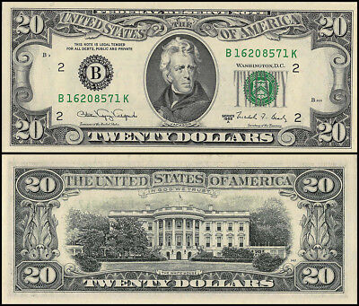 United States of America $20 Dollars Banknote, 1988, P-483, UNC, Andrew Jackson