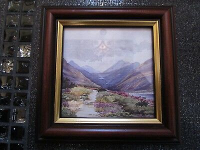 MOURNE SCENE By BETH CHENEY Ireland Watercolor Silent Valley On Wood Frame NWOT