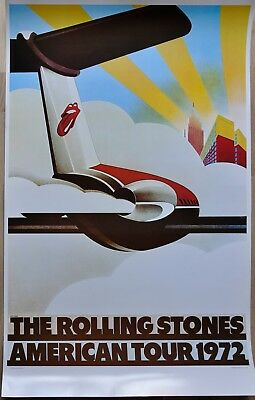 Original Poster The Rolling Stones American Tour 1972 perfect condition