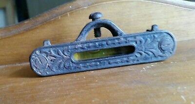 Vintage Ornate Cast Iron Pocket Line Level