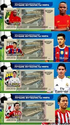 Set of 4 banknotes 2018 FIFA World Cup-Russia 10 ruble Group H -UNC!